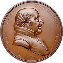 Medal Indian Peace John Adams 1797 Commemorative Bronze