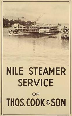 Poster Travel Nile Steamer Service Of Thos Cook Amp Son