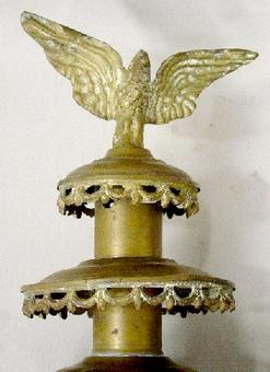 Coach Lamp 2 Brass Eagle Finial