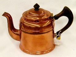 Kettle Majestic Tea Copper Curved Spout 9 Inch