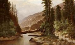 Painting by Thomas MoranRocky Mountain School Nationalism