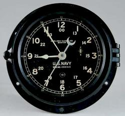 Chelsea US Navy Clock http://www.prices4antiques.com/Ships-Clock-Chelsea-US-Navy-Black-Case-6-inch-C217359.htm