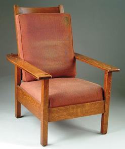 Furniture Chair Morris Arts Crafts Stickley L JG 4