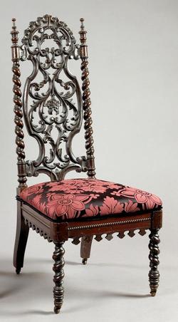 Furniture Chair Side Elizabethan Revival Walnut Rope