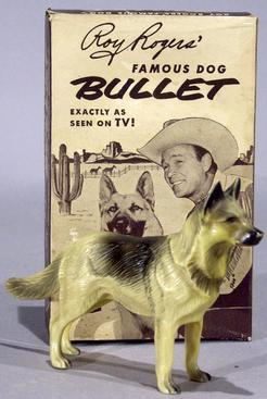 Figure Hartland Western Roy Rogers Bullet Dog Original