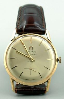 Wristwatch Man S Omega Seamaster 17 Model 18k Gold
