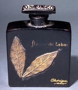 perfume bottle for cherigan fleurs de tabac black gold leaves 3 inch. Black Bedroom Furniture Sets. Home Design Ideas
