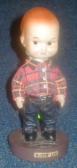 Nodder Doll Buddy Lee Wrangler Jeans Advertisement