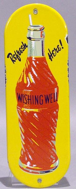 Advertising Soda Wishing Well Orange Door Push