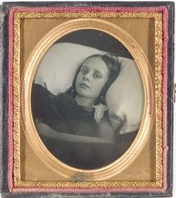 Daguerreotype Photograph 1 6 Plate Post Mortem Portrait