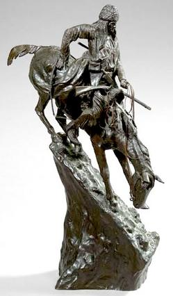 Bronze Sculpture Remington Frederic Sackrider After