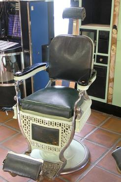 An Art Deco Enamel And Nickel Plated Barber Chair By Theo Koch Company;  Image Credit On Full Record.