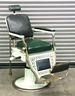 Barber Chair Koch Theo Art Deco Enamel Nickel Plate