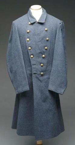 Civil War Confederate double-breasted frock coat identified to Lt ...