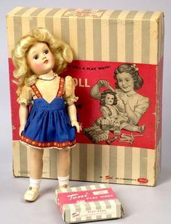 Plastic Doll; Ideal, Toni, Blue Sleep Eyes, Blonde Hair ...