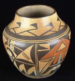 Pottery Hopi Olla Figural Designs 8 Inch