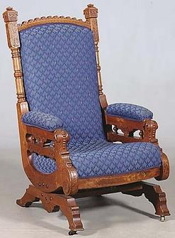 1880s Eastlake Rocking Chair Classified Ad - Albuquerque Art and