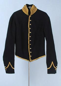 Civil War Cavalry shell private's jacket of navy wool with goldenrod ...