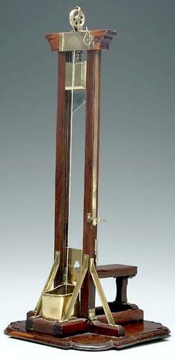 Model Guillotine Brass Amp Mahogany Working Model 16 Inch