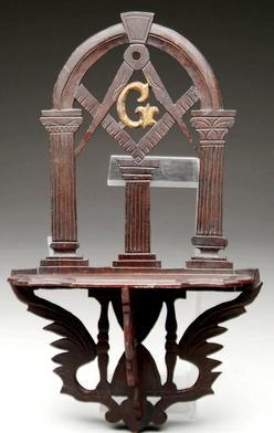 Furniture Shelf Hanging Masonic Lodge Bracket Carved