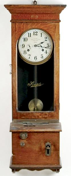 Time Clock Simplex Time Recorder Oak
