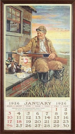 Calendar Remington Arms 1926 Nitro Club 29 Inch