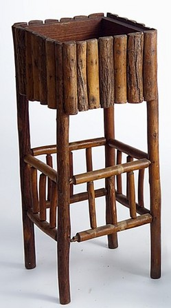 Furniture Stand Plant Rustic Old Hickory Paine Spindle