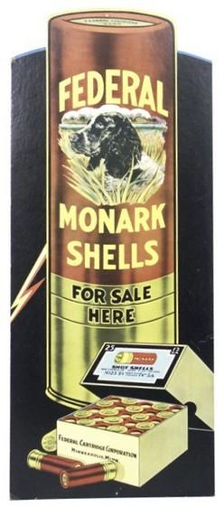 Advertising-Firearms; Federal Ammunition, Sign, Monark ...