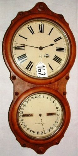 Calendar clock seth thomas office wall figure 8 walnut for Seth thomas wall clocks value