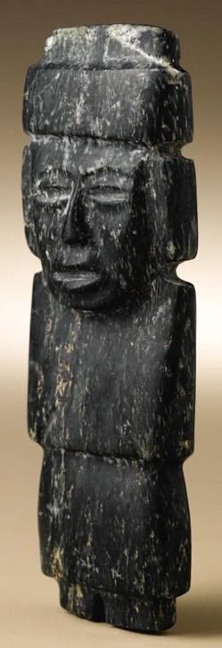Stone pre columbian teotihuacan carving female