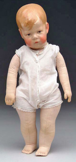Cloth Doll; Kruse (Kathe), Character Child, Doll I, Wide ...