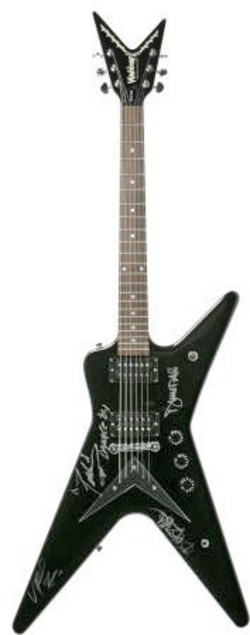 signed memorabilia damageplan band 4 guitar washburn dime 332. Black Bedroom Furniture Sets. Home Design Ideas