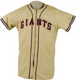 Baseball Jersey Kerr Buddy New York Giants Game Worn 1942 1948