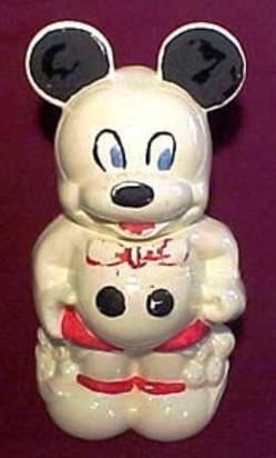 Cookie Jar Walt Disney Mickey Minnie Mouse Turnabout