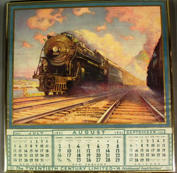 Calendar New York Central Railroad 1931 Morning On The
