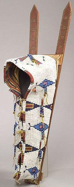 Cradle Cheyenne Beaded Hide Tack Decoration 44 Inch