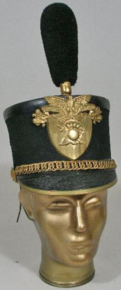 Head Gear Shako West Point Cadet Leather Brass Plate