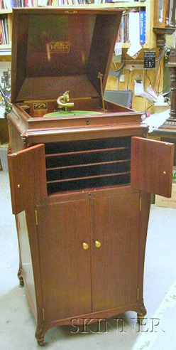 Phonograph Victor Victrola Model Vv Xvi Mahogany Cabinet