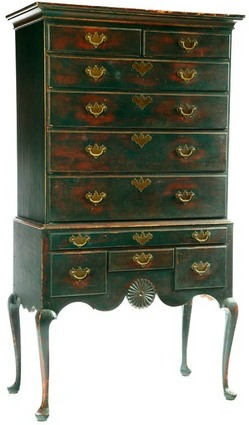 Furniture Highboy Queen Anne Style Smith David T