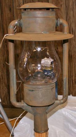 Lantern Dietz Street Lamp Tin Tube Frame No 3 Clear Globe