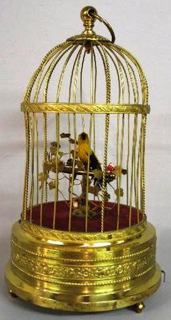 German Singing Bird in Cage