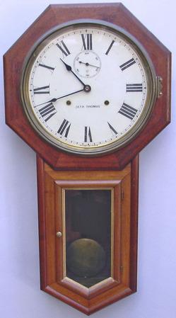 Wall clock seth thomas world model 8 day mahogany 32 for Seth thomas wall clocks value