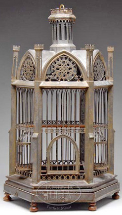Bird Cage Victorian Tin Hexagonal Gazebo Form Gothic