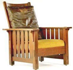 Furniture Chair Morris Arts Crafts Oak Stickley L
