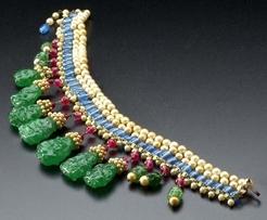 Necklace Chanel Maison Gripoix Fringe Collar Indian