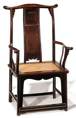 ... A 17th Century Chinese Jichimu Yoke Back Chair With Cane Seat Image  Credit On Full Record