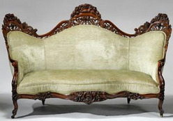 Furniture Settee Victorian Rococo Revival Belter John Henry
