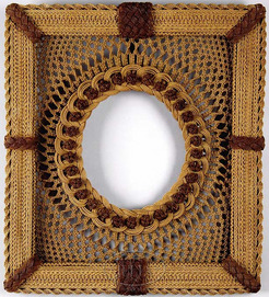 Picture Frame Sailor Art Macrame Oval Window 26 Inch