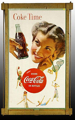 Coca Cola Sign Coke Time Female Sporting Activities