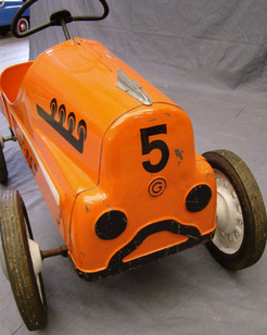 Pedal Car Toys: Garton Hot Rod Racer Pedal Car from 1957 Catalog